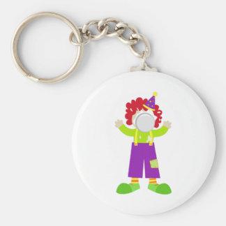 Pie Face Clown Key Chain