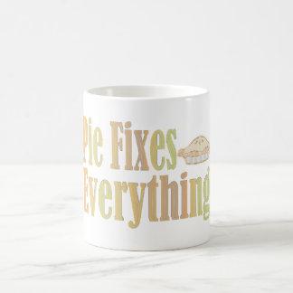 Pie Fixes Everything Classic White Coffee Mug