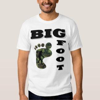Pie grande con el logotipo del pie camisas