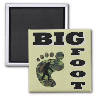 Pie grande con el logotipo del pie imán cuadrado