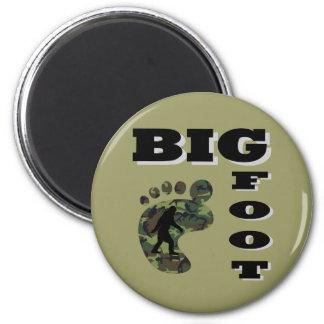 Pie grande con el logotipo del pie imán redondo 5 cm