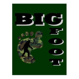 Pie grande con el logotipo del pie tarjeta postal