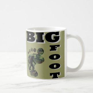 Pie grande con el logotipo del pie tazas de café