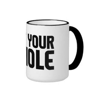 PIE HOLE mug - choose style color