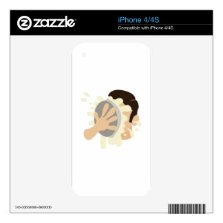 Pie In Face Decal For iPhone 4