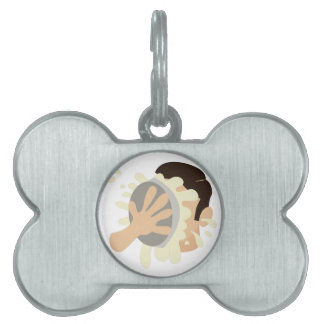Pie In Face Pet ID Tag