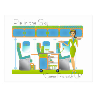 Pie in the Sky Airline Postcard