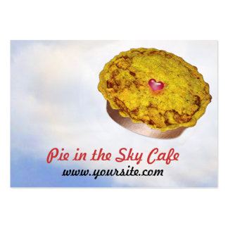 Pie in the Sky Cafe Large Business Card