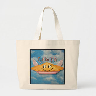 Pie in the Sky Retro Winged Cutie Large Tote Bag