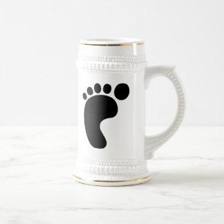 Pie izquierdo tazas de café