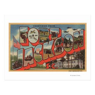 Pie Jackson, Carolina del Sur - escena grande de Tarjetas Postales
