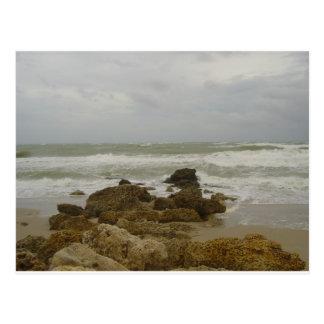 Pie Lauderdale - el huracán limpia Postal