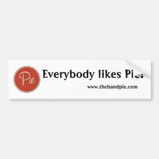 Pie Logo Red Everybody like Pie bumper sticker