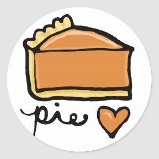 Pie Love! Classic Round Sticker