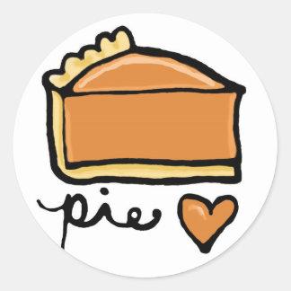 Pie Love! Round Stickers