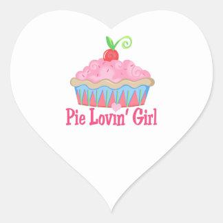 PIE LOVIN GIRL HEART STICKERS