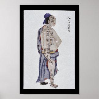 Pie meridiano Taiyang de la vejiga de la Póster