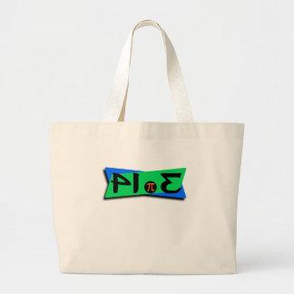 Pie Pi 3.14 Backwards Large Tote Bag