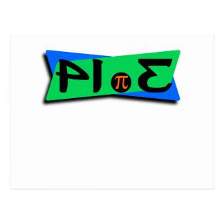 Pie Pi 3.14 Backwards Postcard