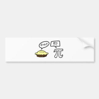 Pie & Pi Bumper Sticker