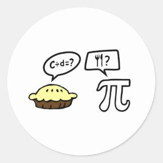 Pie & Pi Classic Round Sticker