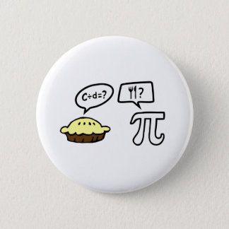 Pie & Pi Pinback Button