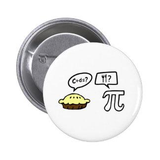Pie & Pi Pinback Button