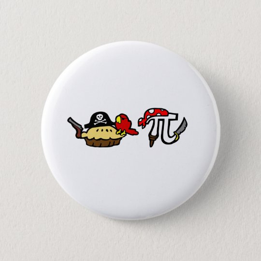 Pie & Pi Pirates Button