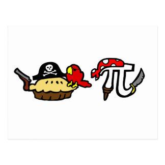 Pie & Pi Pirates Postcard