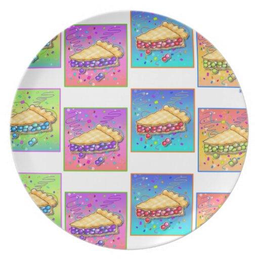 Pie Pop Art Plate