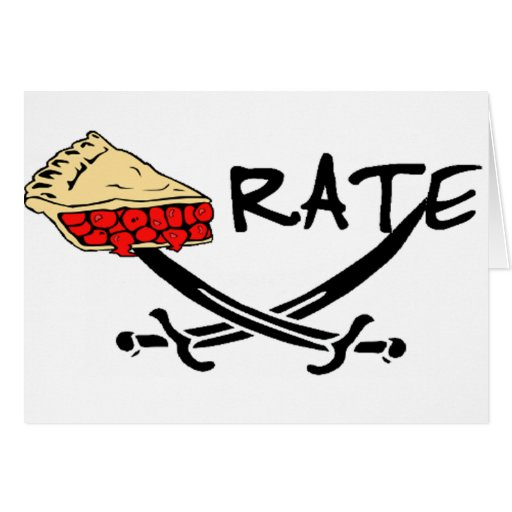 Pie-rate! Greeting Card