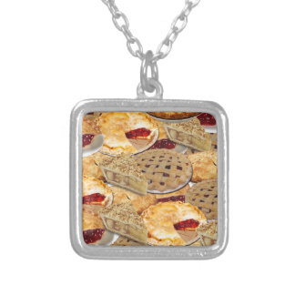 Pie Silver Plated Necklace