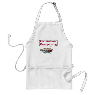 Pie Solves Everything Adult Apron