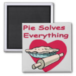 Pie Solves Everything Apron Fridge Magnets