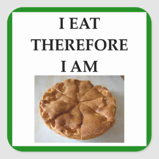 pie square sticker