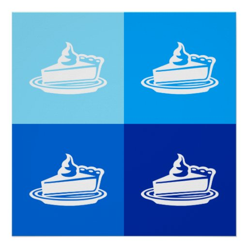 PIE SQUARED - Ombre Pop Art - Square Poster