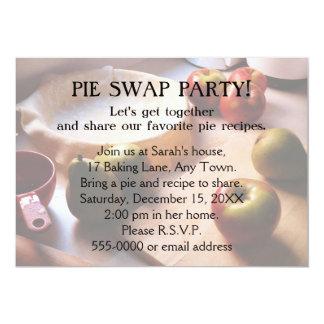 Pie Swap Party 5x7 Paper Invitation Card