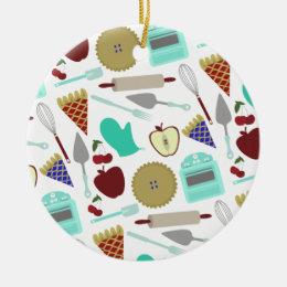 Pie Themed Pattern Ornament