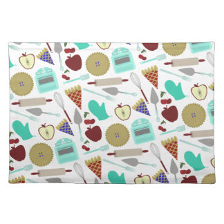 Pie Themed Pattern Placemat Cloth Place Mat