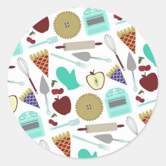 Pie Themed Pattern Sticker