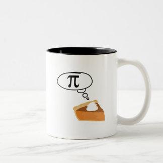Pie Thinking of Pi Two-Tone Coffee Mug