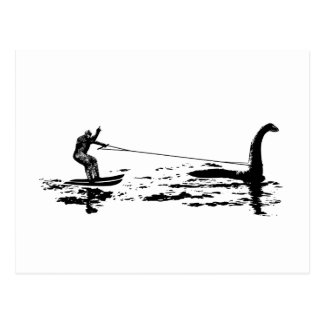 Pie y Nessie grandes Tarjetas Postales