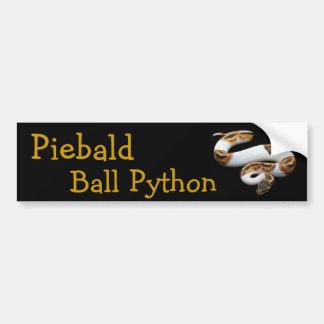 piebald ball python bumper sticker
