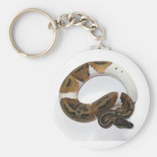 piebald  ball python keychain