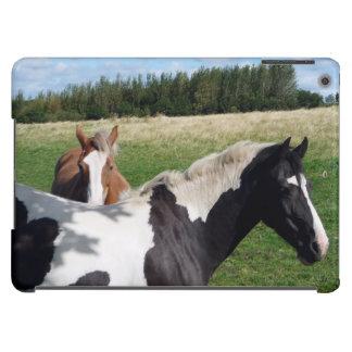 Piebald & Chestnut Horses in a Field Photograph iPad Air Case