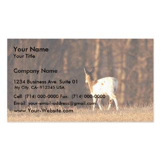 Piebald deer business card template