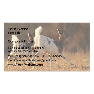 Piebald deer running business card templates