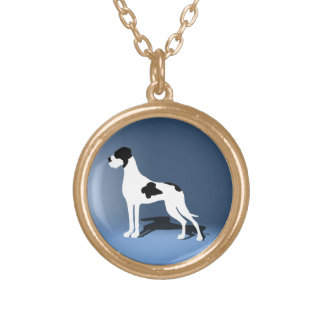 Piebald Great Dane Gold Plated Necklace