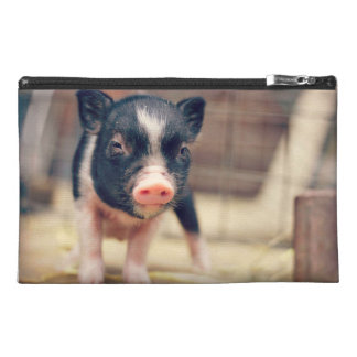 Piebald Pig puppy for Pig Lovers Travel Accessories Bags