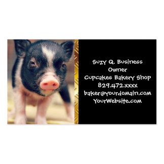 Piebald Pig puppy for Pig Lovers Double-Sided Standard Business Cards (Pack Of 100)